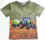 tshirt-Trekker-(CLAAS)-Jongens-Legergroen