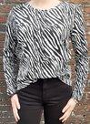 Shirt-Dames-Zebra-Zwart-/-Wit