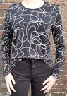 Shirt-Dames-Zwart-/-Wit