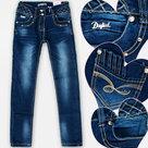 Fanny-Look-Jeans-Meisjes-Donkerblauw