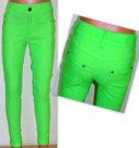 Papillon-Gekleurde-Skinny-Broek-Meisjes-Fluor-Groen