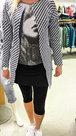 Vest-Dames-Donkerblauw/Wit