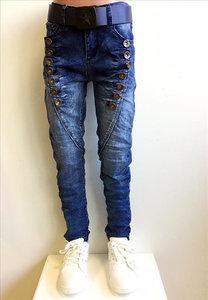 Squared & Cubed Knopen Jeans Meisjes